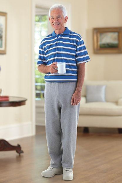 Men's Short Sleeve Polo Back-Zip Jumpsuit (S-2X)