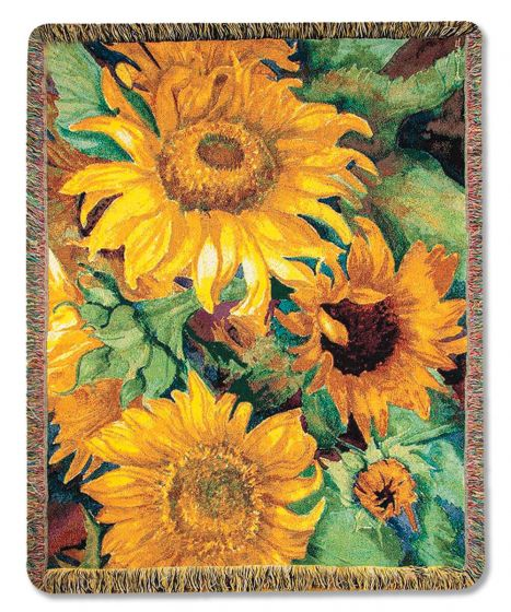 Large Sunflowers Woven Throw