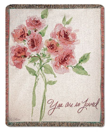 You are So Loved Woven Throw