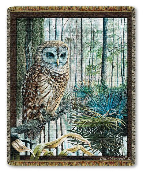 Swamp Owl Woven Throw