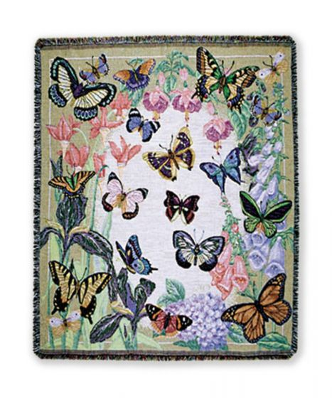 Butterflies are Free Woven Throw