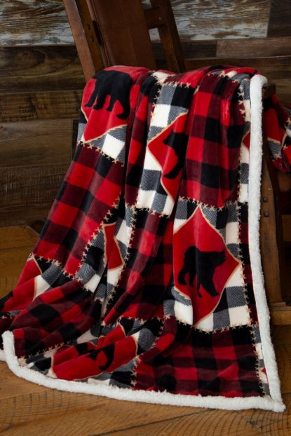 Lumberjack Bear Sherpa Throw