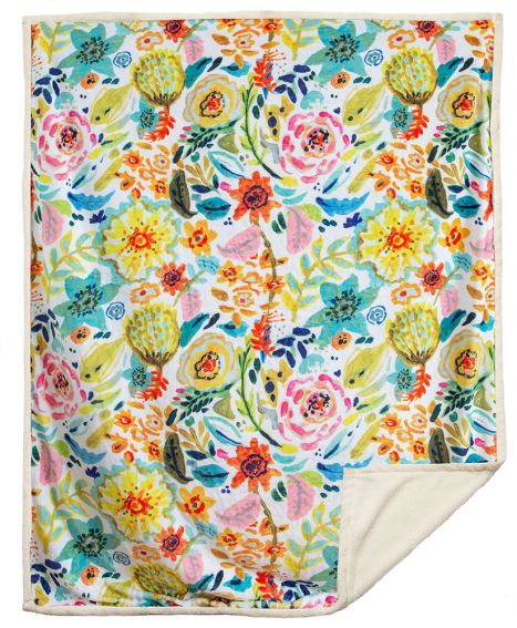 Field of Flowers Sherpa Throw