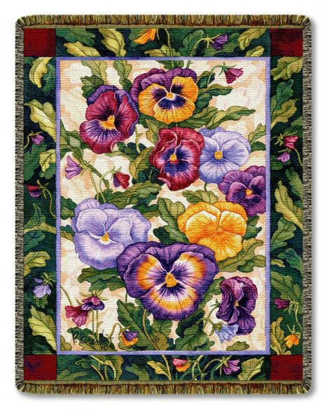 Pansy Family Woven Throw