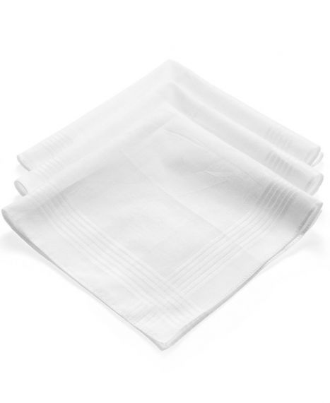3-Pack of White Handkerchiefs