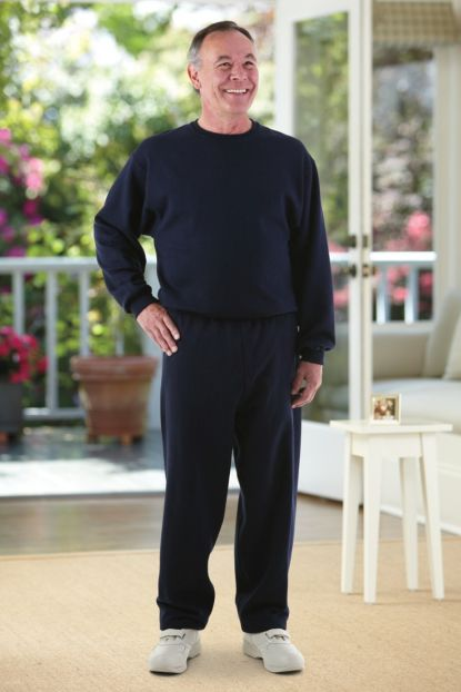 Men's Basic Sweat Jumpsuit (S-2X)
