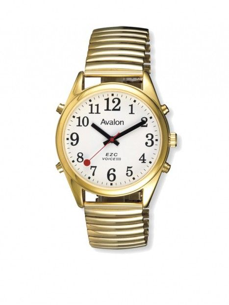 Men's Talking Watch-Gold Tone