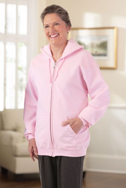 Hooded Zip-Front Sweatshirt