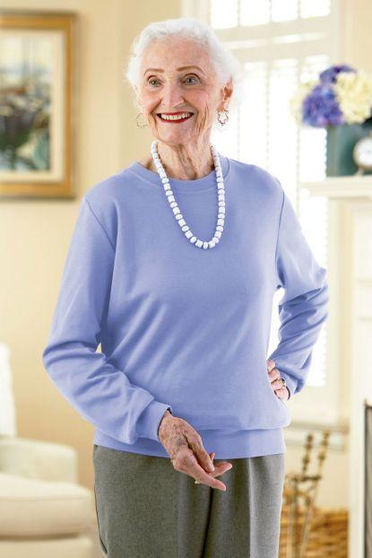 Women's Long Sleeve Banded Bottom Top