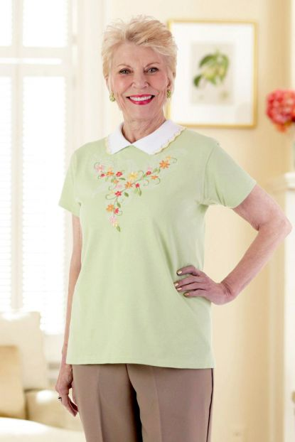Printed T-Shirt with Collar