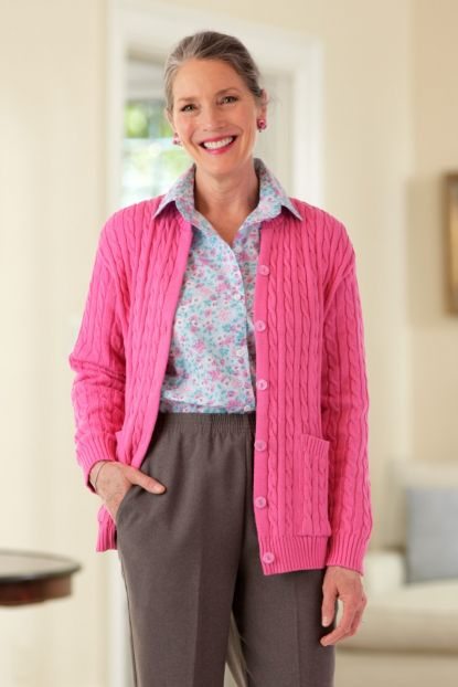 Cotton Cardigan Sweater with Pockets