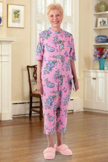 Capri Length Printed Back-Zip Sleep Suit