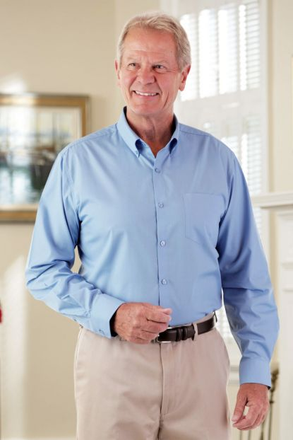Long Sleeve Stain Resistant Shirt
