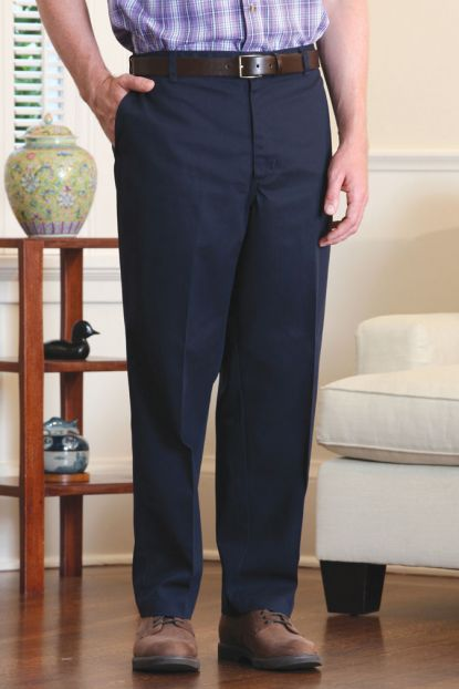 Standard Waist Twill Pants with VELCRO® Brand fastener fly