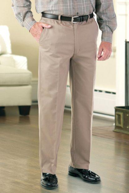 Twill Zip-Fly Putter Pants (2X-4X)
