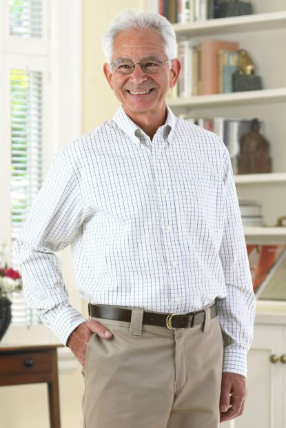 Long Sleeve Tattersall Shirt w/ VELCRO® Brand Fasteners