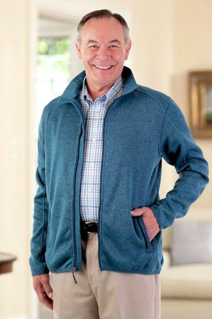 Men's Zip Front Fleece Sweater (S-4X)