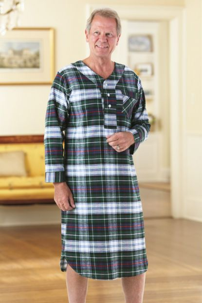 Men's Flannel Nightshirt