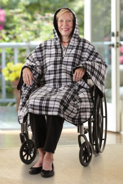 Reversible Fleece Poncho