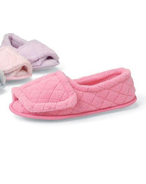 Women's Open Toe Terry Slippers