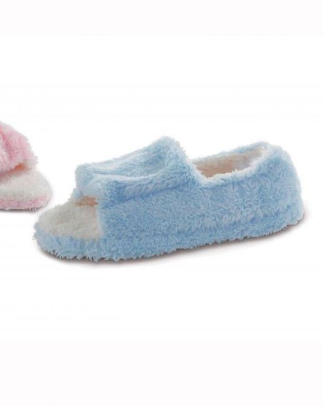 Micro-Terry Open Toe Slipper (Sm Only)