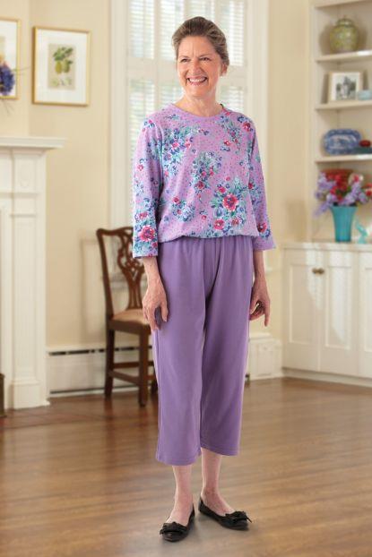 Capri Perfect Fit Jumpsuit-Printed top