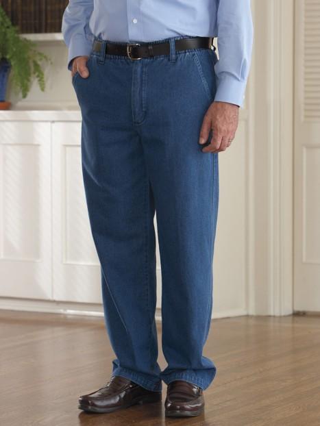 Denim Zip Fly Putter Pants (S-XL)