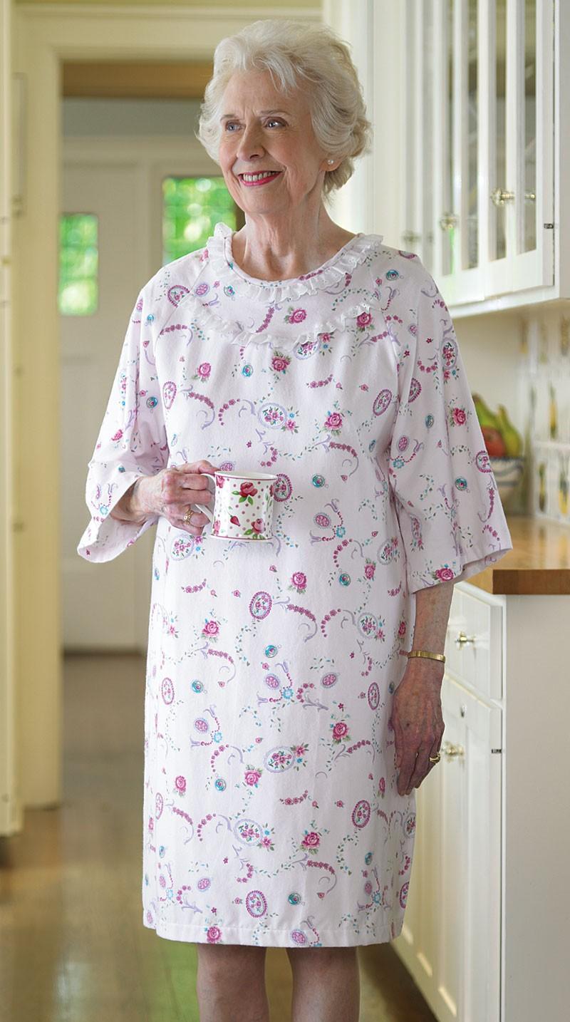Budget Flannel Open Back Nightgown Buck Amp Buck