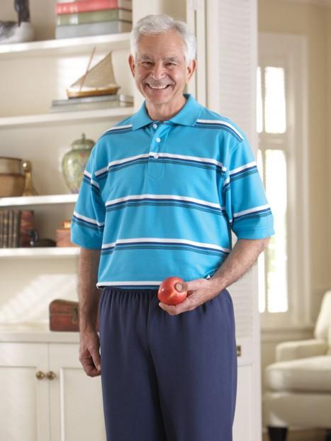 Men's Short Sleeve Polo Back-Zip Jumpsuit (S-XL)