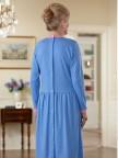 Long Sleeve Solid Knit Snap Back Dress Image 2
