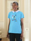 Printed T-Shirt with Collar Image 2