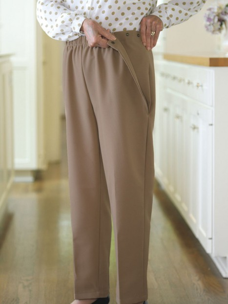 Poly Side Snap Pants